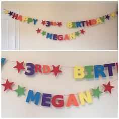 2x Personalised Unicorn 3a banners all Occasions birthday party name age