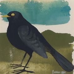 View A blackbird By Mary Fedden; watercolour and bodycolour; Access more artwork lots and estimated & realized auction prices on MutualArt. Raven Art, Rabbit Art, Painting Inspiration, Art Inspo, Simple Art, Fine Art Gallery, Watercolor And Ink, Bird Art, Art Images
