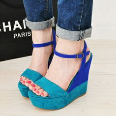 Strapy and colorful wedges | My kind of bags and shoes | Pinterest ...
