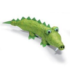 crocodile Brinquedos Artesanais - Jacaré de Garrafa Pet