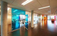 Media center and interior classrooms
