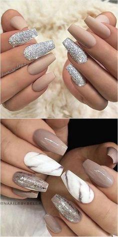 May 2020 - # nail polish Nail Art Trends 2018 - The Classy Nails, Stylish Nails, Trendy Nails, Cute Nails, Sophisticated Nails, Marble Nail Designs, Cute Acrylic Nail Designs, Nail Art Designs, Nails Design