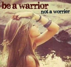 This picture is a logical fallacy because warriors and worriers are not mutually exclusive traits. The picture implies that one must either be a warrior or a worrier when in reality someone could be both. Someone who is a warrior could also be a worrier. Cute Quotes, Great Quotes, Quotes To Live By, Motiverende Quotes, Quick Quotes, Inspire Quotes, Teen Quotes, Quotes Images, Change Quotes