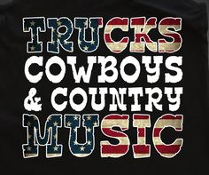 Trucks Cowboys & Country Music Tank Top Racer Back