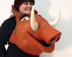 Pumba Lion King ADULT Pumbaa costume IN STOCK, Disney head + Body animal friendly Warthog for women, men, Hand made by Tentacle Studio