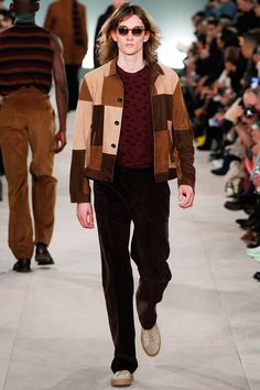 Super Patchwork textured Look from OliverSpencer at #LCM #aw16 #menswear #voguishFeed