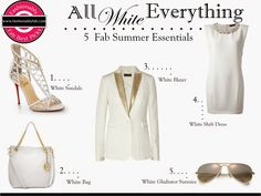 Fashionably Fabulous: White Out: Get White for Summer!
