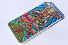 DMT Magic Mushroom Ayahuasca trippy psychedelic art Hard case for iphone 4 4s 5 5s... cool technicolor case