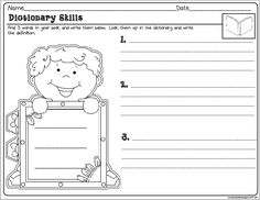 Freebie! 50 Reading Comprehension Activity Dictionary Skills