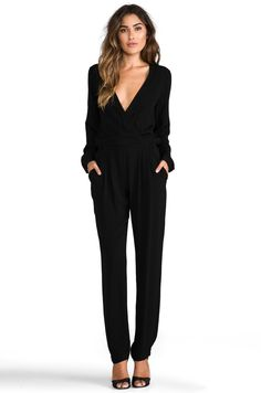 Twelfth Street By Cynthia Vincent Reckless Daughter Long Sleeve Jumpsuit in Black | REVOLVE