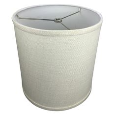 """FenchelShades.com 10"""" Top Diameter x 10"""" Bottom Diameter 10"""" Height Cylinder Drum Lampshade Liner USA Made (Burlap Off White). Top Diameter : 10"""" 