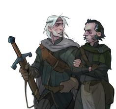 Geralt, Regis. The Witcher Game, The Witcher Geralt, Witcher Art, Fantasy Character Design, Character Inspiration, Fantasy Male, White Wolf, Fantasy Characters, Dungeons And Dragons