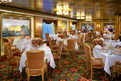 Le Bistro restaurant on Norwegian Jade....Always thought the JADE was a gorgeous ship! Maybe SOMEday......@Norwegian Cruise Line