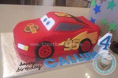 3D Lightning Mcqueen Cake cakepins.com