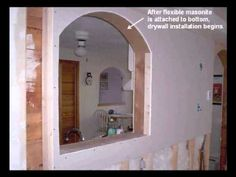 How to build an arch. I'm seeing lots of arches and pillars in a future master bathroom!