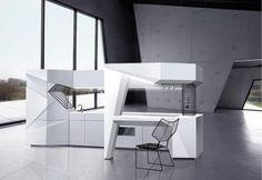 Cocinas Origami. Proyecto Origami-mi de Olga Kryukova
