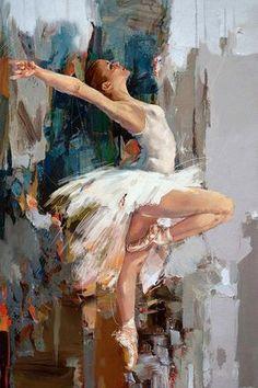 """""""Ballerina"""" Original Oil #Painting by Artist: Mahnoor """" Mano """" Shah canvas, modern oil, ballet art"""