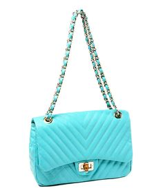 Take a look at this Amrita Singh Teal Park Avenue Shoulder Bag on zulily today!