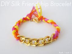 DIY Silk   Chain Friendship Bracelet