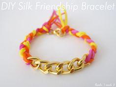 DIY Silk   Cadena Pulsera de la amistad