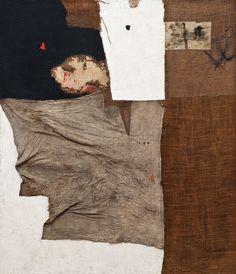 Alberto Burri, Sacco, 1953 - We love - Collages, Collage Art, Joan Miro, Abstract Expressionism, Abstract Art, Alberto Burri, Modern Art, Contemporary Art, Neo Dada
