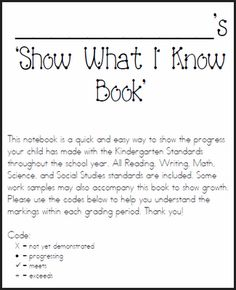 Teacher Time Savers: Common Core - Show What I Know...This is PERFECT for P/T conf.   We can show parents exactly where students are!  (free!!)