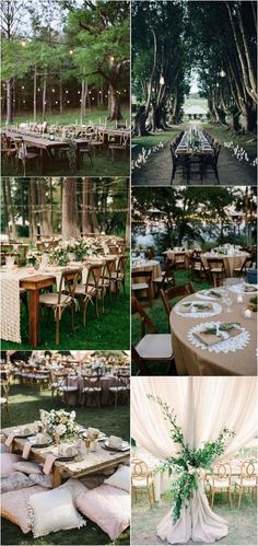 boho chic outdoor wedding reception ideas2_