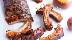 Grilled Chipotle Peach BBQ Ribs