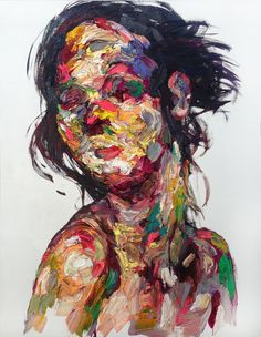 Shin Kwangho (Korean) Oil on canvas - shin kwangho kwang ho shin abstract expressionism expressionism painting art illustration 1422 shares source ...