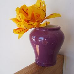 Vintage Purple Porcelain Vase Jar by Fortnum and Mason of London by lookonmytreasures on Etsy
