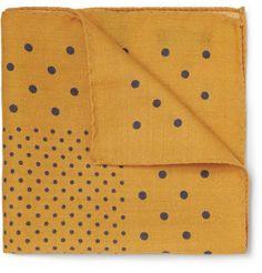 Alex MillPolka-Dot Wool Pocket Square
