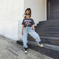 Cute Little Girls Outfits, Kids Outfits Girls, Toddler Girl Outfits, Baby Outfits, Cute Kids Fashion, Baby Girl Fashion, Toddler Fashion, Mode Streetwear, Stylish Kids