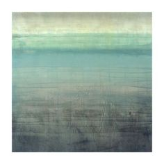 I wouldn't mind looking at this every night when watching tv. Soothing. Sea Glass Giclee | Ballard Designs