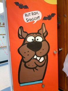 halloween classroom door Scooby doo halloween door at the BCLC Halloween Door Decs, Halloween Dorm, Halloween Classroom Decorations, Scooby Doo Halloween, Dorm Door Decorations, Ghost Decoration, Halloween Gifts, Halloween Themes, Halloween Party