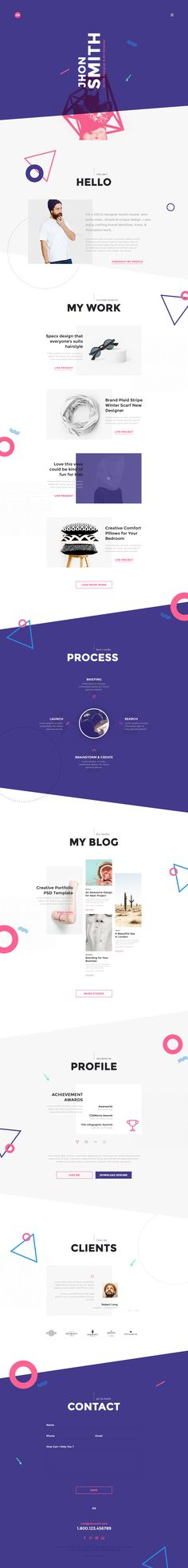 Website Design Me Creative Portfolio Web Design (Designer Unknown) Layout Design, Web Design Tips, Web Layout, Page Design, Diy Design, Design Trends, Design Ideas, Portfolio Webdesign, Web Portfolio