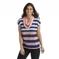 Canyon River Blues Women's Shirt & Infinity Scarf - Striped