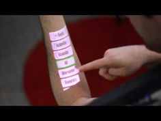 OmniTouch projection interface makes the world your touchscreen (video). Repin from Mike Bak.