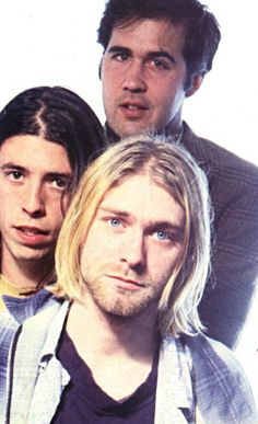 Whenever I see a picture of Kurt Cobain, he looks the same, but when I see Dave Grohl and Krist Novoselic they look so young, though they were only a few years older than me at the time. Kurt is really frozen in time forever while the two in the back are getting younger and younger in the picture at the same time. That's crazy and sad.