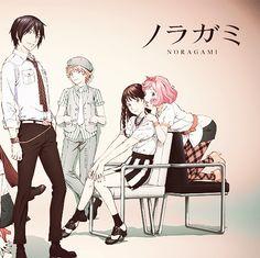 Yato, Yukine, Hiyori, and Kofuku. Yato is so hot omg All Anime, Manga Anime, Anime Art, Anime Stuff, Yato And Hiyori, Noragami Anime, Otaku, Yatori, Another Anime
