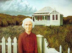 Peter Siddell New Zealand Art, Nz Art, Old Folks, Kiwiana, Art Boards, Photo Art, Artists, Portrait, Architecture