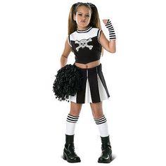 Bad Spirit Cheerleader Child Halloween Costume Girlu0027s Size Medium Multicolor  sc 1 st  Pinterest & Tween Kids Gothic Cheerless Leader Scary Costume..graycen | Holiday ...