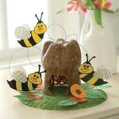 abelhas com colmeia