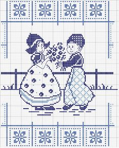 quilting like crazy Cross Stitch Tree, Cross Stitch Borders, Cross Stitch Baby, Cross Stitch Samplers, Cross Stitch Designs, Cross Stitching, Cross Stitch Embroidery, Cross Stitch Patterns, Delft