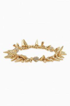 Gold Spike & Pave Diamond Bracelet | Renegade Cluster Bracelet | Stella & Dot