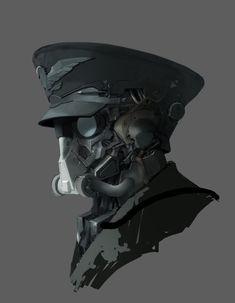 ArtStation - mech head, j K