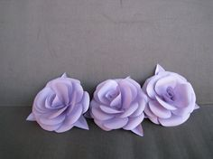 Paper Flowers Wedding Decoration Set of 6 Paper by ThePurpleDream