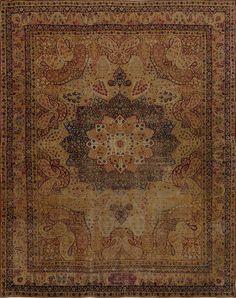 Matt Camron Rugs & Tapestries - Antique Collection - Antique Persian Kerman Lavar Rug - 08985HA