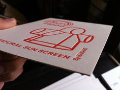 Sunhood Tags printed Max Orange on Saunders Waterford Card Stock