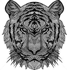 Adult Tiger Coloring Page