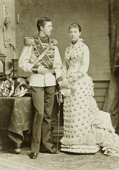 Crownprince Gustav of Sweden and his fiancee, Pss Viktoria of Baden. 1881